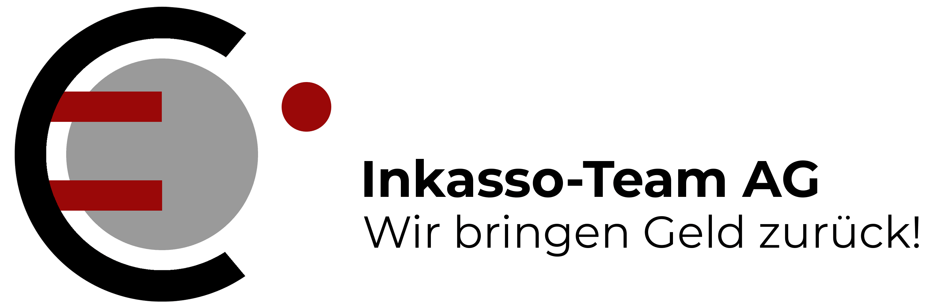 Logo des Inkassounternehmens mit Slogan